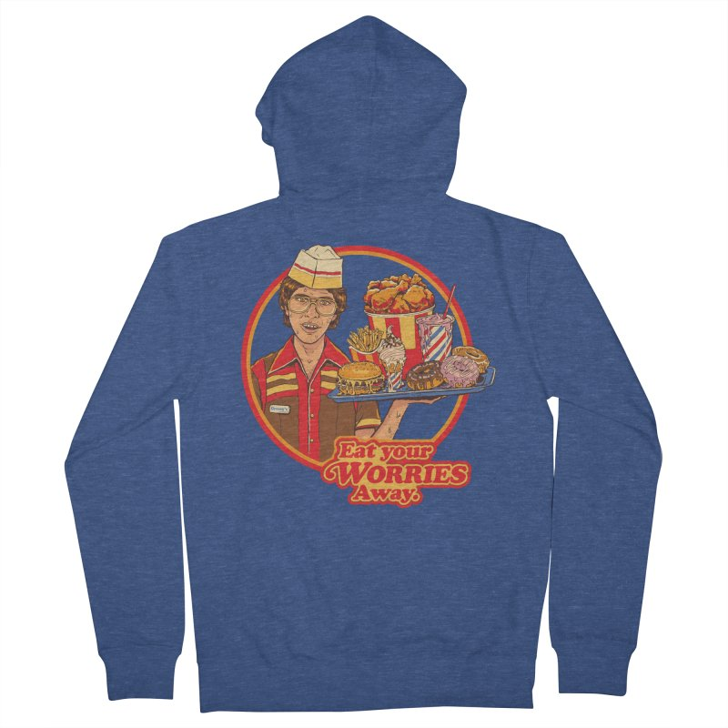 Eat Your Worries Women's French Terry Zip-Up Hoody by Steven Rhodes