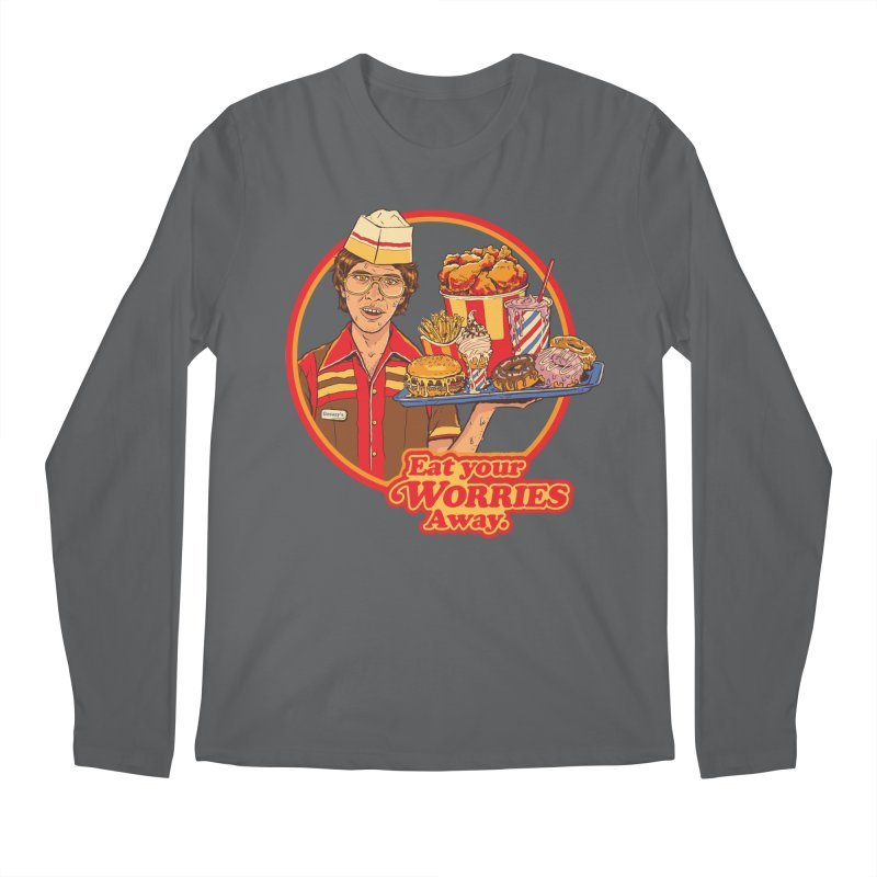 Eat Your Worries Men's Regular Longsleeve T-Shirt by Steven Rhodes