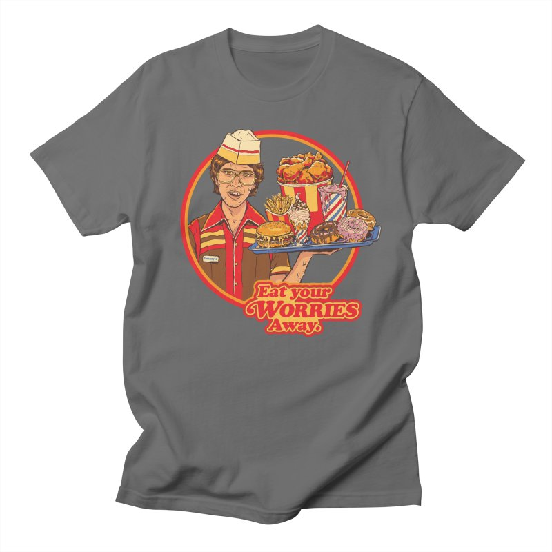 Eat Your Worries Men's T-Shirt by Steven Rhodes