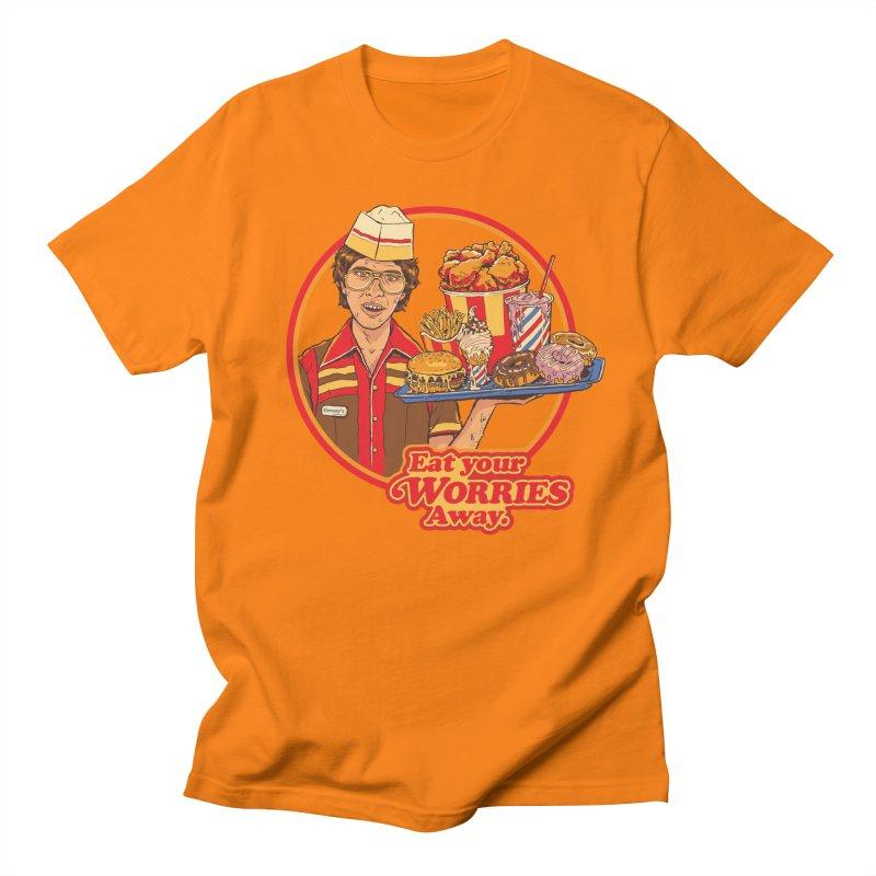 Eat Your Worries Men's T-Shirt by Steven Rhodes
