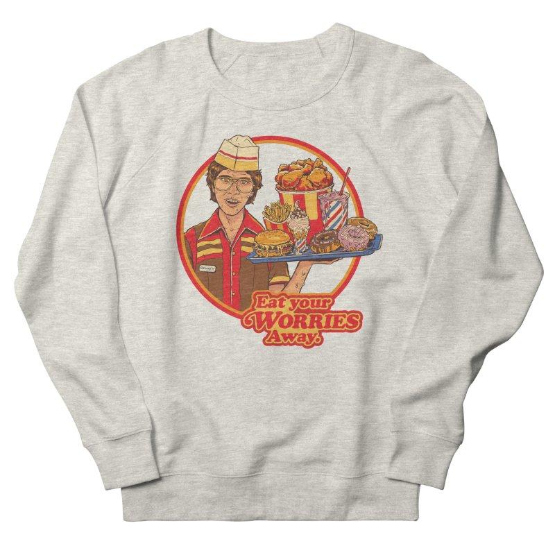 Eat Your Worries Men's French Terry Sweatshirt by Steven Rhodes