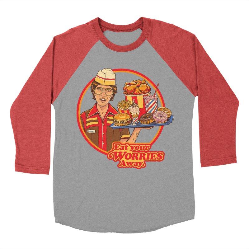 Eat Your Worries Men's Longsleeve T-Shirt by Steven Rhodes