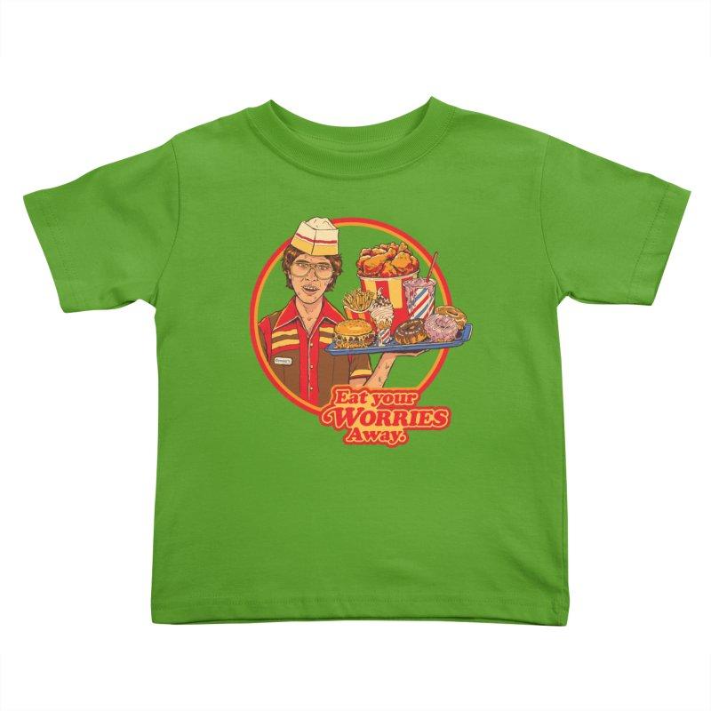 Eat Your Worries Kids Toddler T-Shirt by Steven Rhodes