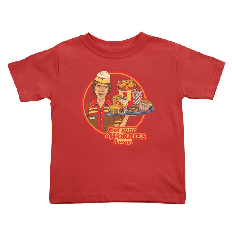 Eat Your Worries Kids Toddler T-Shirt by Steven Rhodes