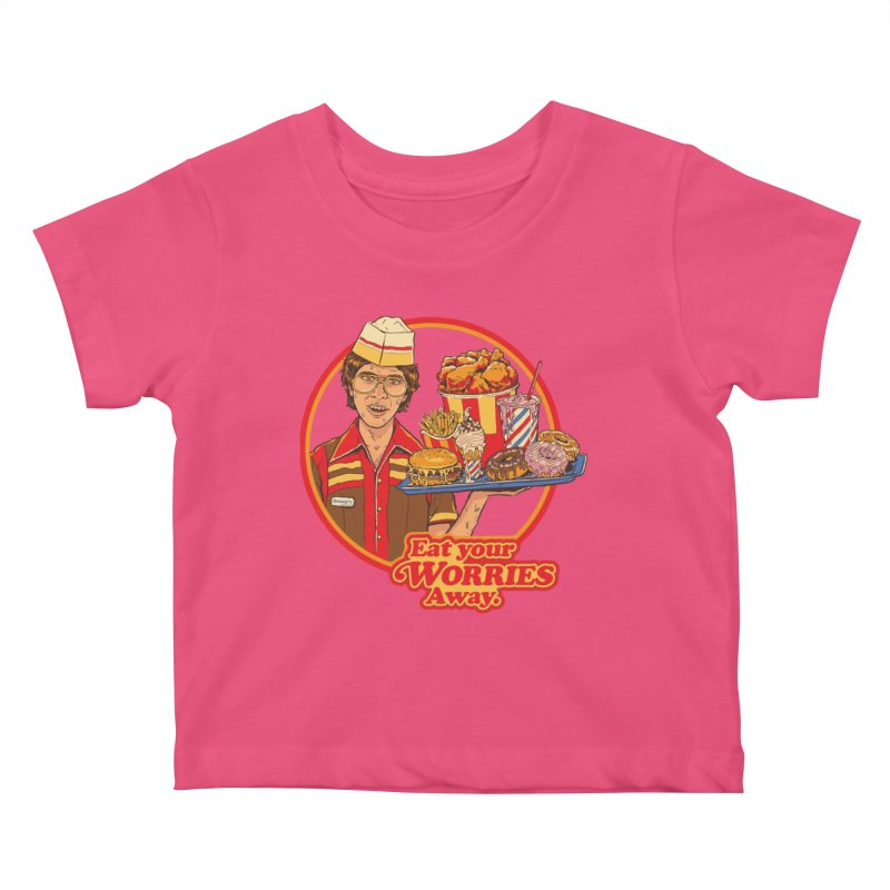 Eat Your Worries Kids Baby T-Shirt by Steven Rhodes