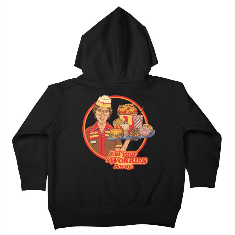 Eat Your Worries Kids Toddler Zip-Up Hoody by Steven Rhodes