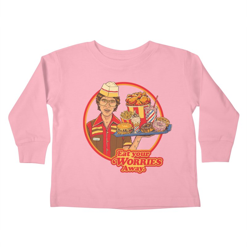 Eat Your Worries Kids Toddler Longsleeve T-Shirt by Steven Rhodes