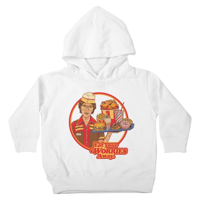 Eat Your Worries Kids Toddler Pullover Hoody by Steven Rhodes