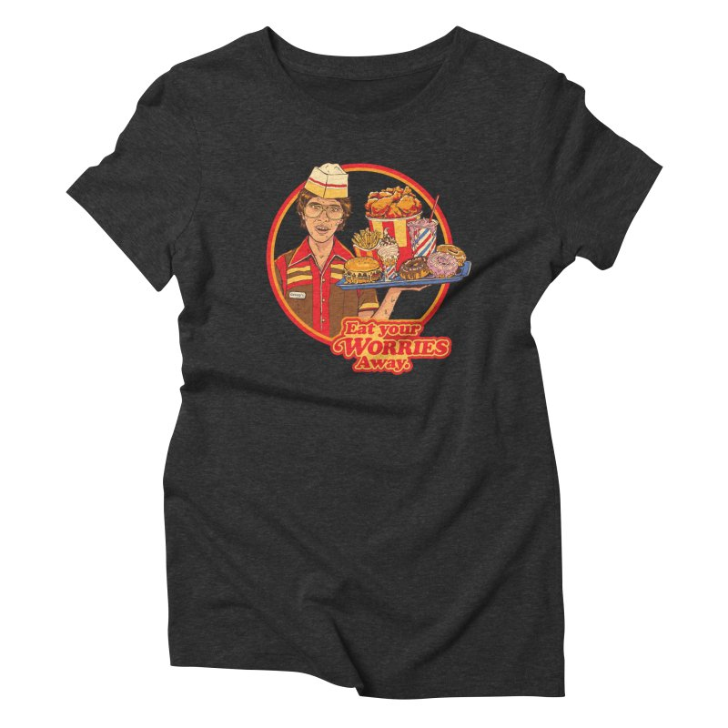 Eat Your Worries Women's Triblend T-Shirt by Steven Rhodes