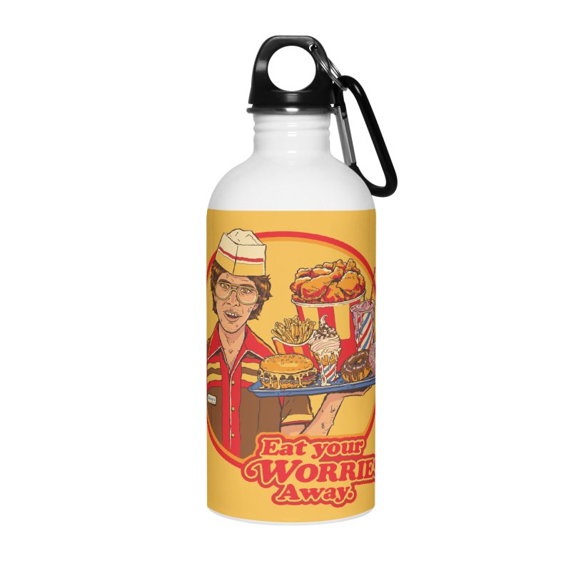 Eat Your Worries Accessories Water Bottle by Steven Rhodes