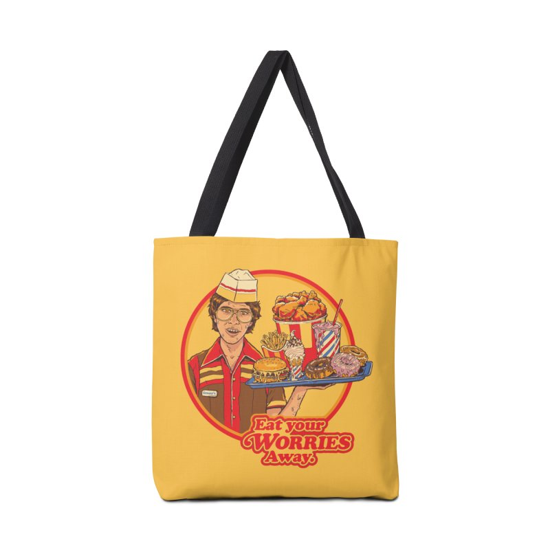 Eat Your Worries Accessories Bag by Steven Rhodes