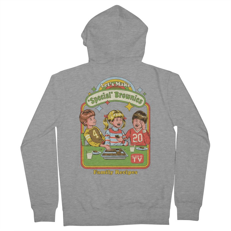 Let's Make Brownies Women's French Terry Zip-Up Hoody by Steven Rhodes