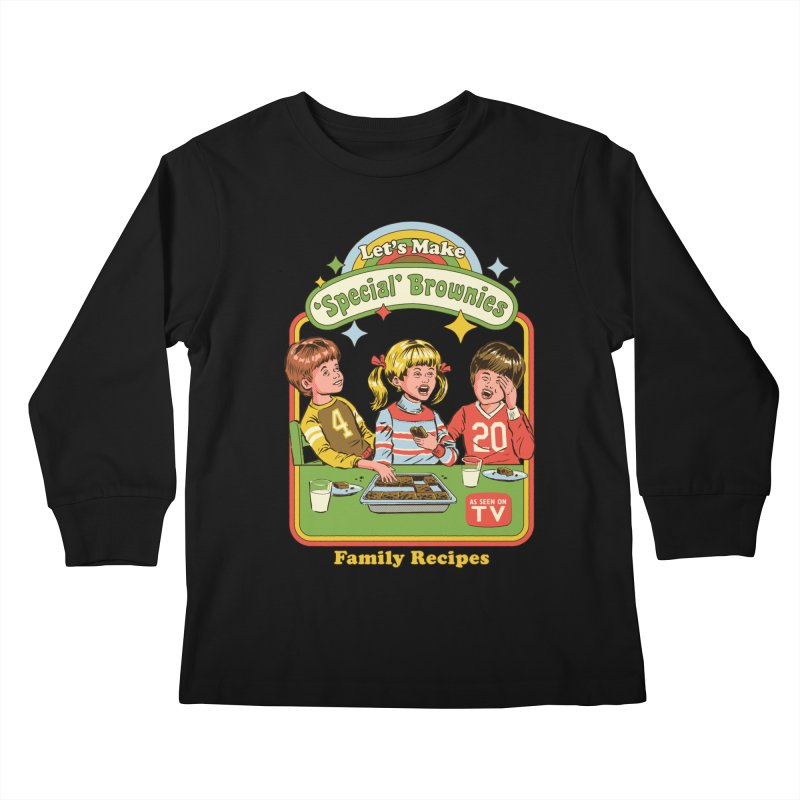 Let's Make Brownies Kids Longsleeve T-Shirt by Steven Rhodes