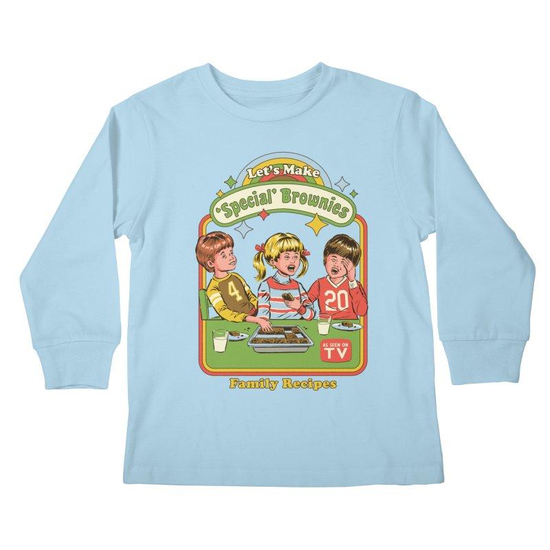 Let's Make Brownies Kids Longsleeve T-Shirt by Steven Rhodes