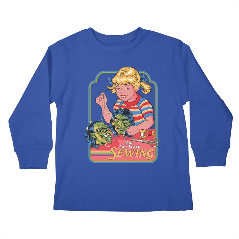 You Can Learn Sewing Kids Longsleeve T-Shirt by Steven Rhodes