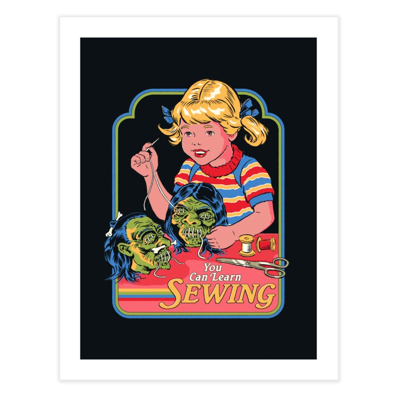 You Can Learn Sewing Home Fine Art Print by Steven Rhodes