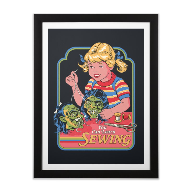 You Can Learn Sewing Home Framed Fine Art Print by Steven Rhodes