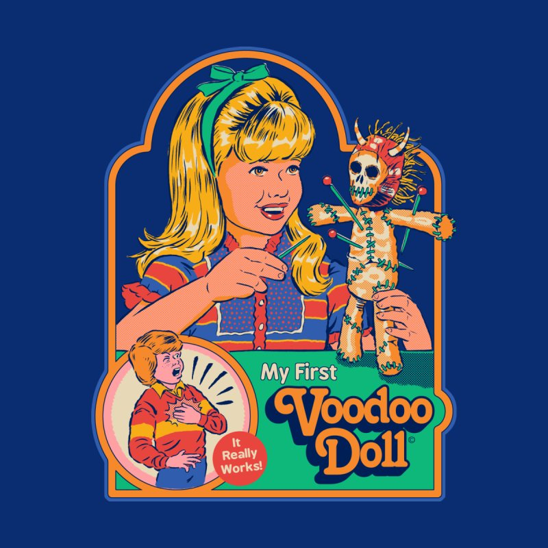 My First Voodoo Doll Kids T-Shirt by Steven Rhodes