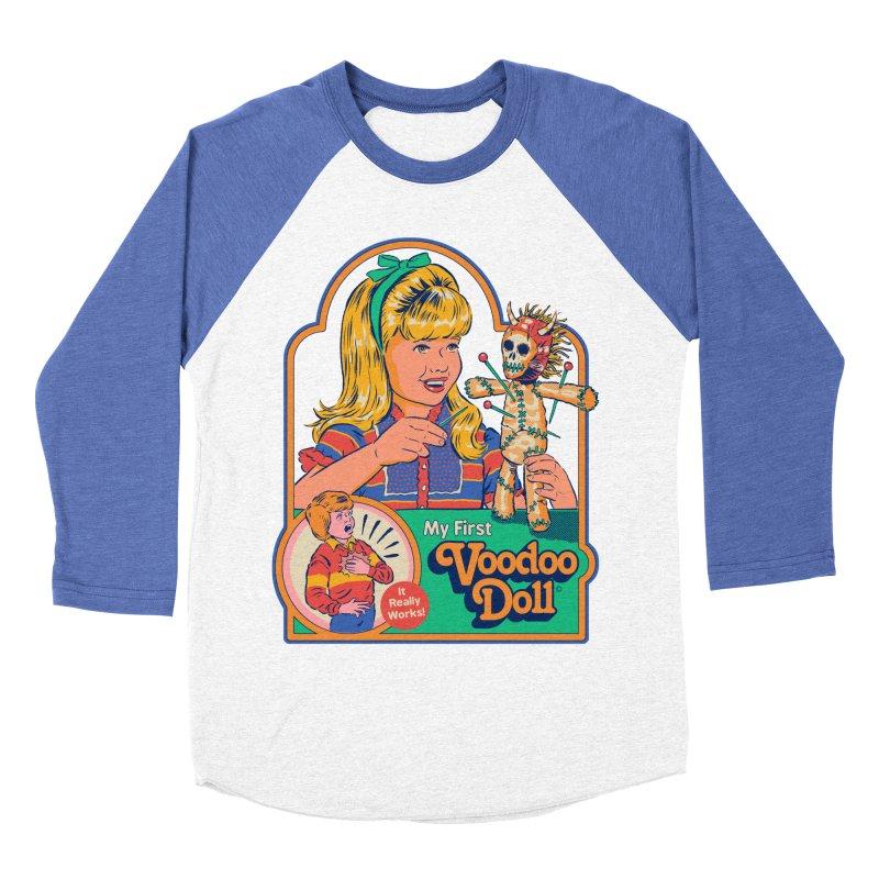 My First Voodoo Doll Men's Baseball Triblend Longsleeve T-Shirt by Steven Rhodes