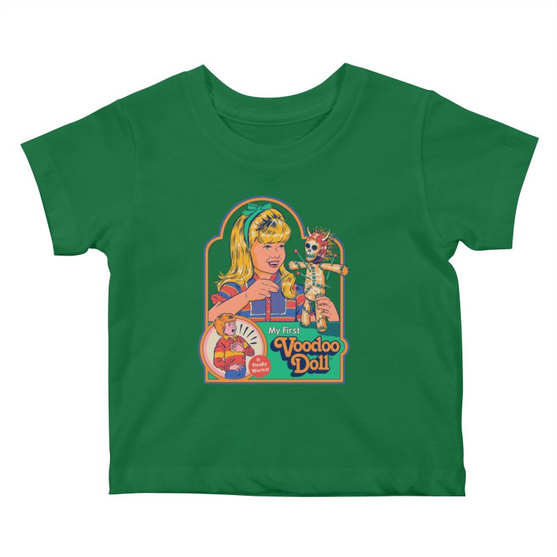 My First Voodoo Doll Kids Baby T-Shirt by Steven Rhodes