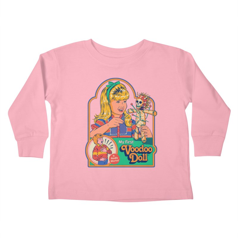 My First Voodoo Doll Kids Toddler Longsleeve T-Shirt by Steven Rhodes