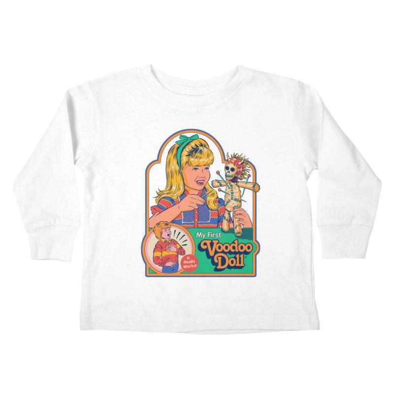 My First Voodoo Doll Kids Toddler Longsleeve T-Shirt by Steven Rhodes