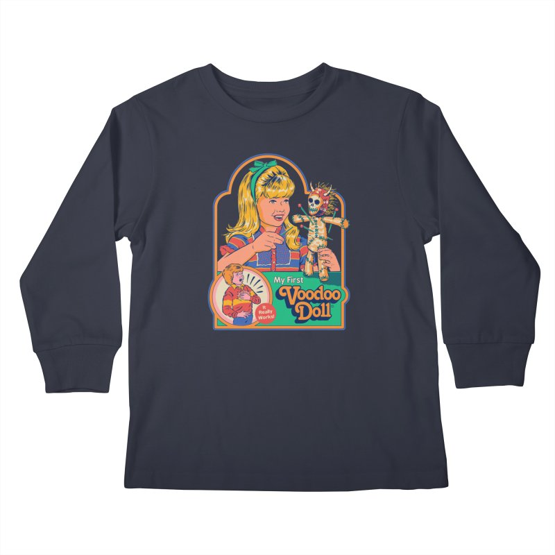 My First Voodoo Doll Kids Longsleeve T-Shirt by Steven Rhodes