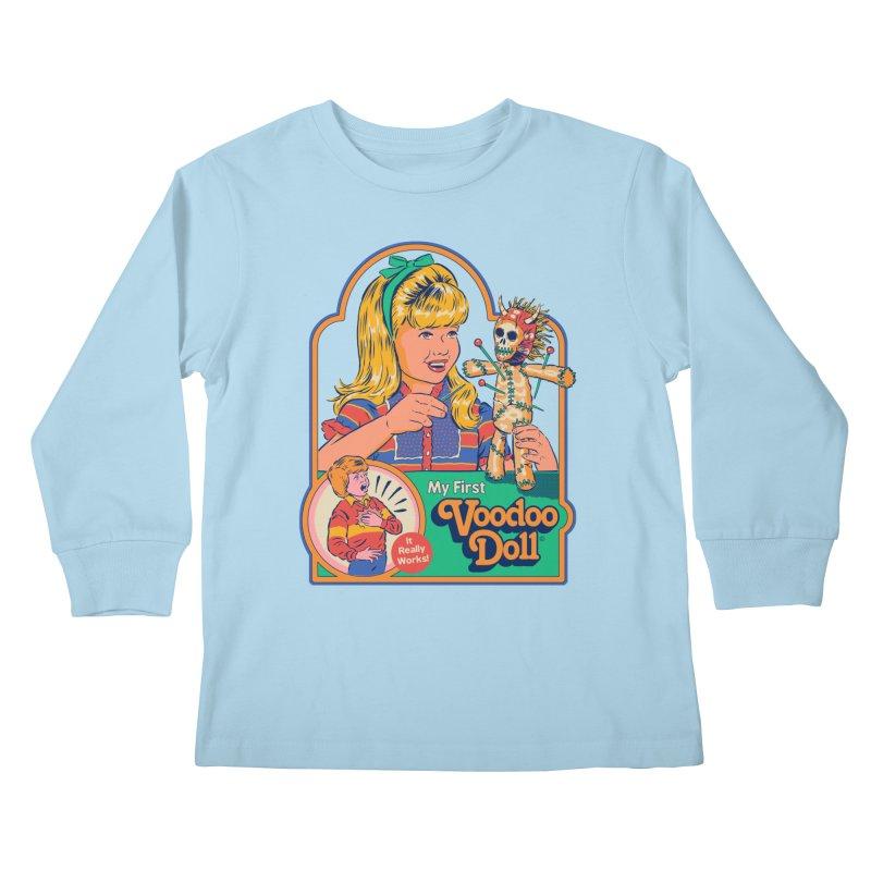 My First Voodoo Doll Kids Longsleeve T-Shirt by Steven Rhodes