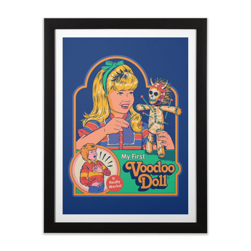 My First Voodoo Doll Home Framed Fine Art Print by Steven Rhodes