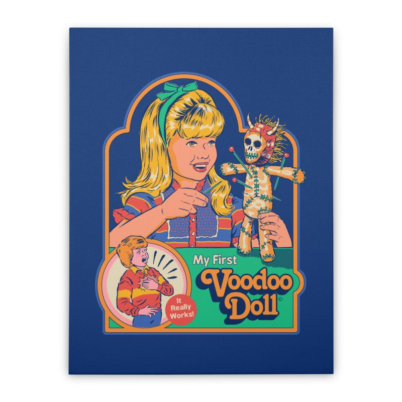 My First Voodoo Doll Home Stretched Canvas by Steven Rhodes