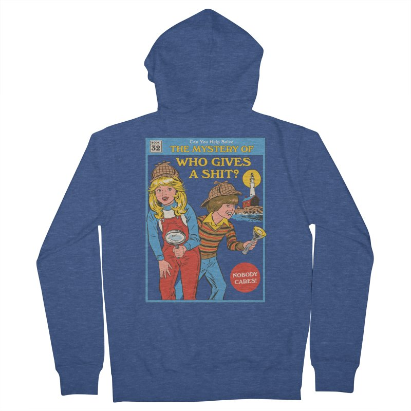 Who Gives a Sh*t? Men's French Terry Zip-Up Hoody by Steven Rhodes