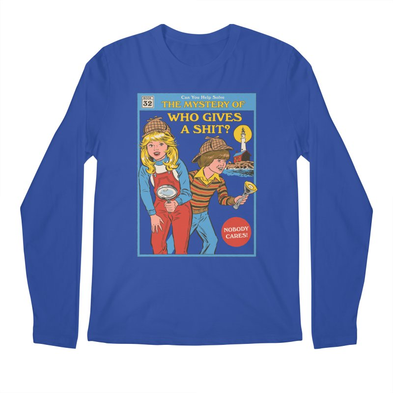 Who Gives a Sh*t? Men's Regular Longsleeve T-Shirt by Steven Rhodes