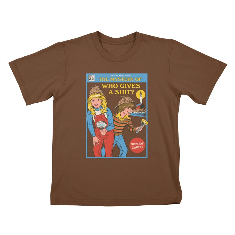 Who Gives a Sh*t? Kids T-Shirt by Steven Rhodes