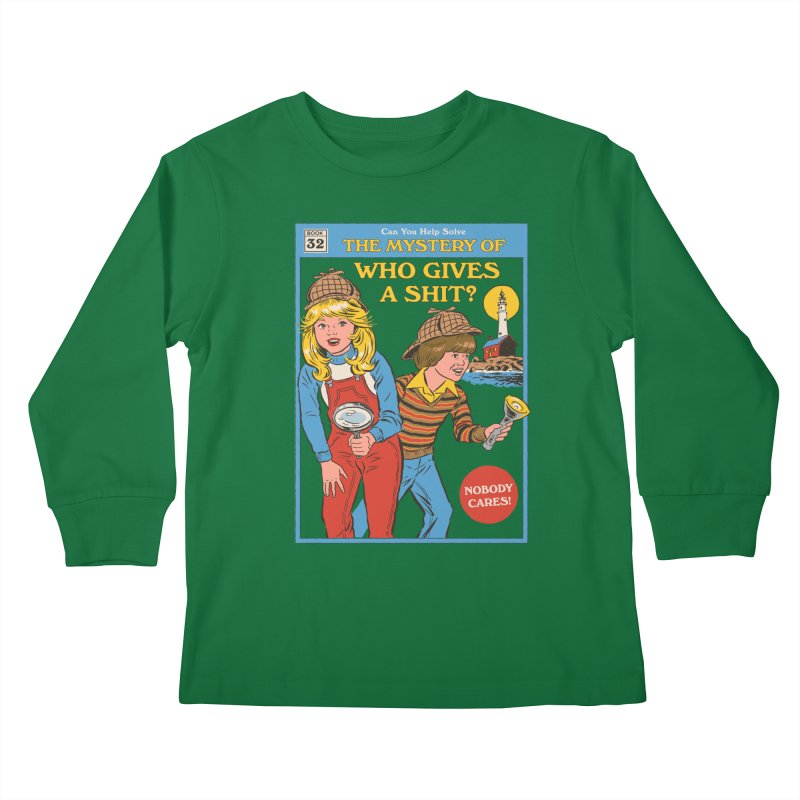 Who Gives a Sh*t? Kids Longsleeve T-Shirt by Steven Rhodes