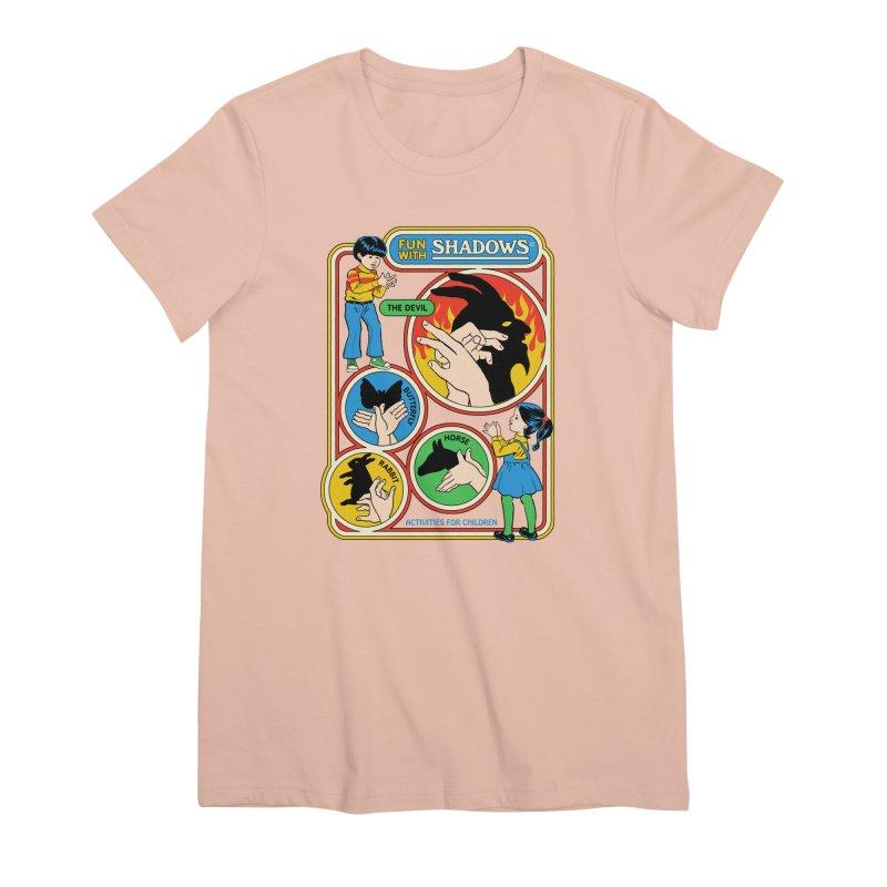 Fun With Shadows Women's Premium T-Shirt by Steven Rhodes