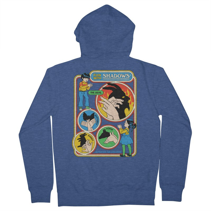 Fun With Shadows Men's French Terry Zip-Up Hoody by Steven Rhodes