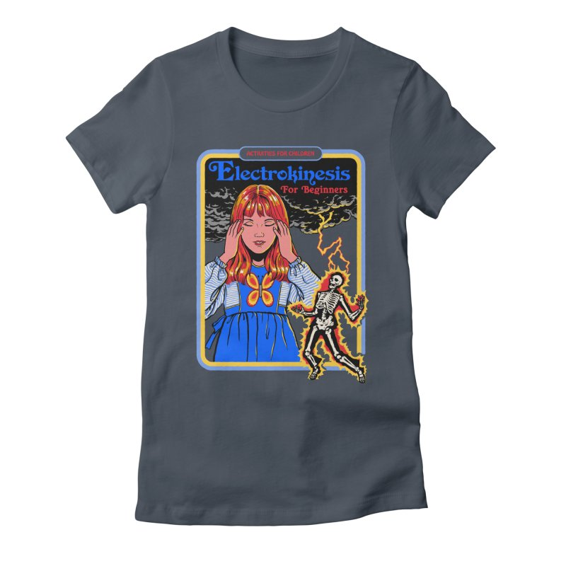 Electrokinesis for Beginners Women's Fitted T-Shirt by Steven Rhodes