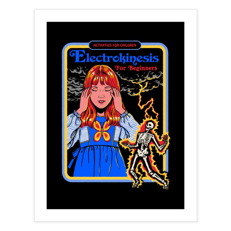 Electrokinesis for Beginners Home Fine Art Print by Steven Rhodes