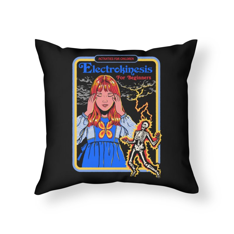 Electrokinesis for Beginners Home Throw Pillow by Steven Rhodes