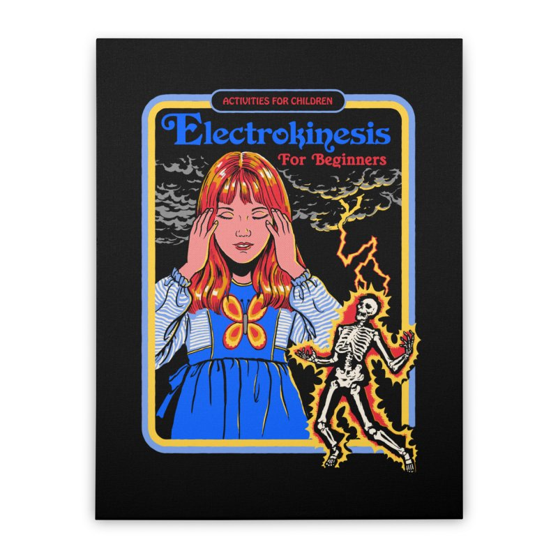 Electrokinesis for Beginners Home Stretched Canvas by Steven Rhodes