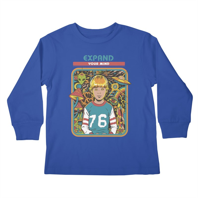 Expand Your Mind Kids Longsleeve T-Shirt by Steven Rhodes
