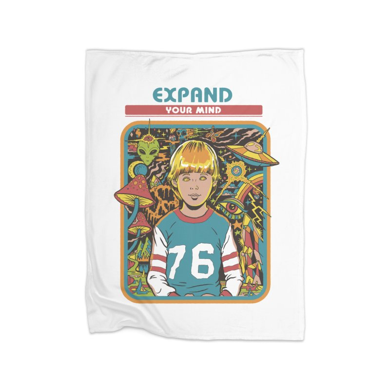 Expand Your Mind Home Blanket by Steven Rhodes