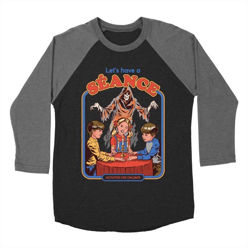 Let's Have a Seance Men's Baseball Triblend Longsleeve T-Shirt by Steven Rhodes