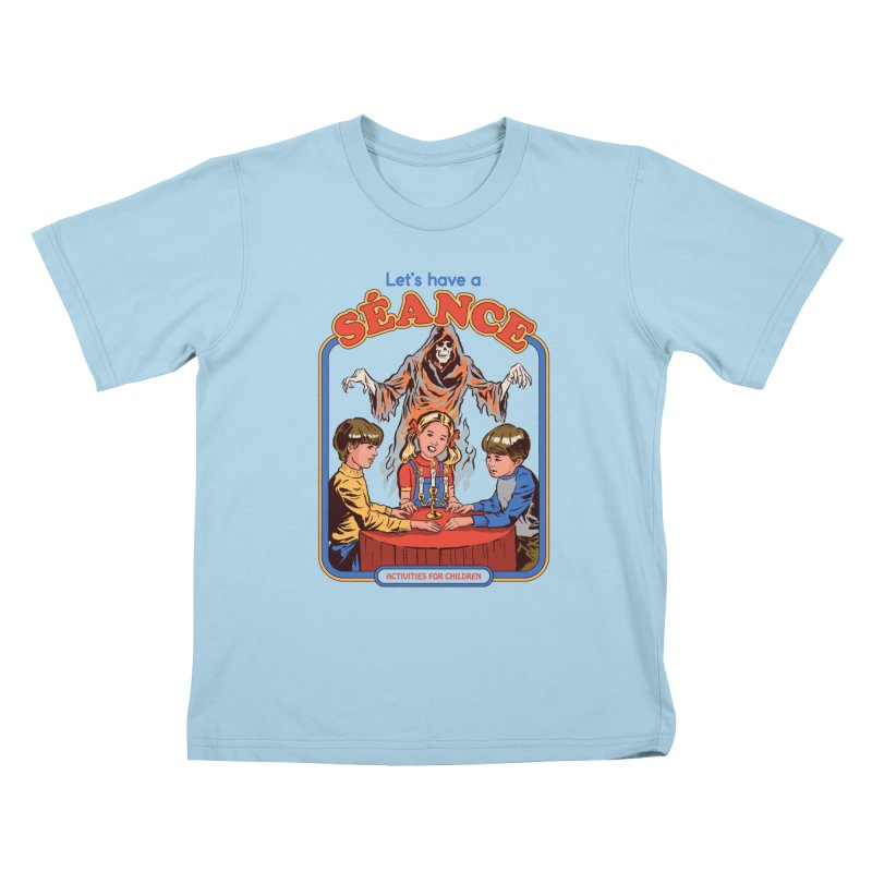 Let's Have a Seance Kids T-Shirt by Steven Rhodes