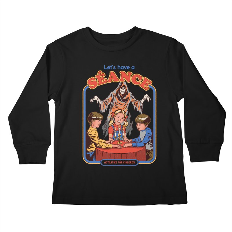 Let's Have a Seance Kids Longsleeve T-Shirt by Steven Rhodes