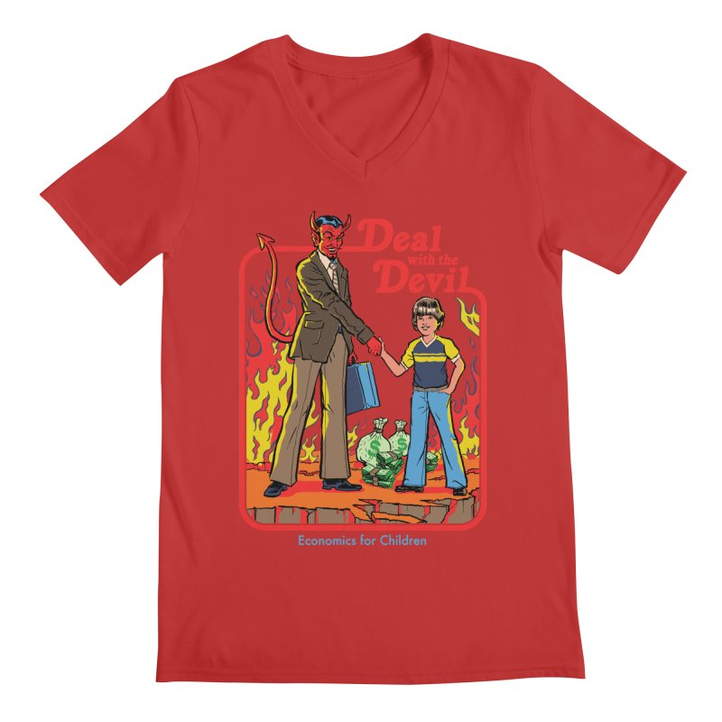 Deal with the Devil Men's V-Neck by Steven Rhodes