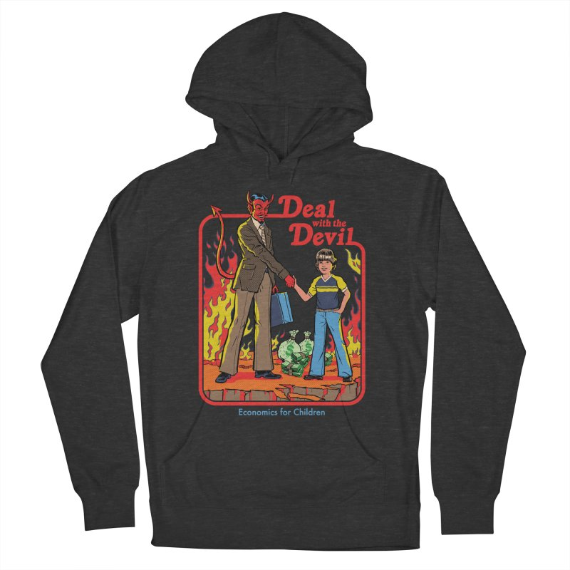 Deal with the Devil Men's French Terry Pullover Hoody by Steven Rhodes