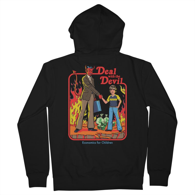 Deal with the Devil Women's French Terry Zip-Up Hoody by Steven Rhodes