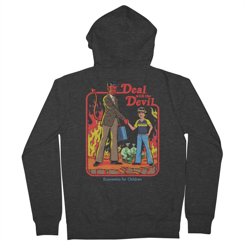 Deal with the Devil Men's French Terry Zip-Up Hoody by Steven Rhodes