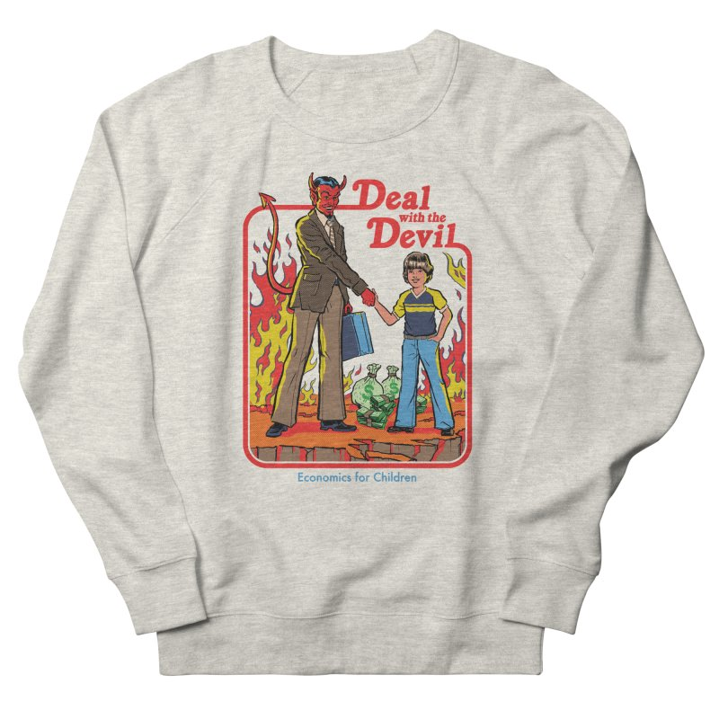 Deal with the Devil Men's French Terry Sweatshirt by Steven Rhodes